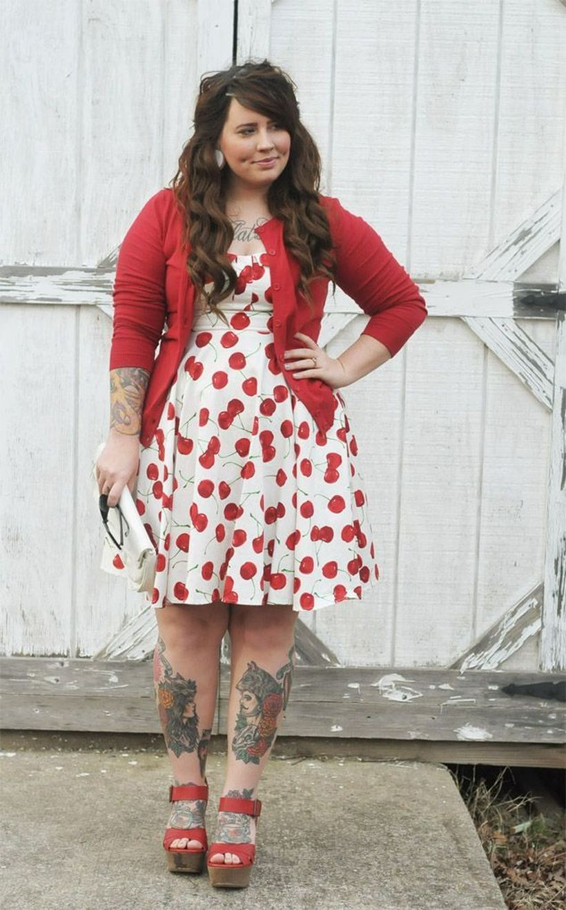 Vintage plus size rockabilly fashion style outfits ideas 82