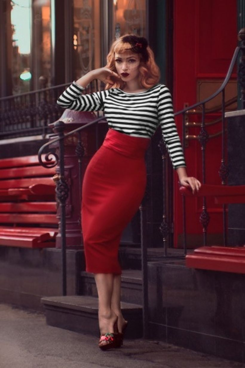 Vintage rockabilly fashion style outfits 27