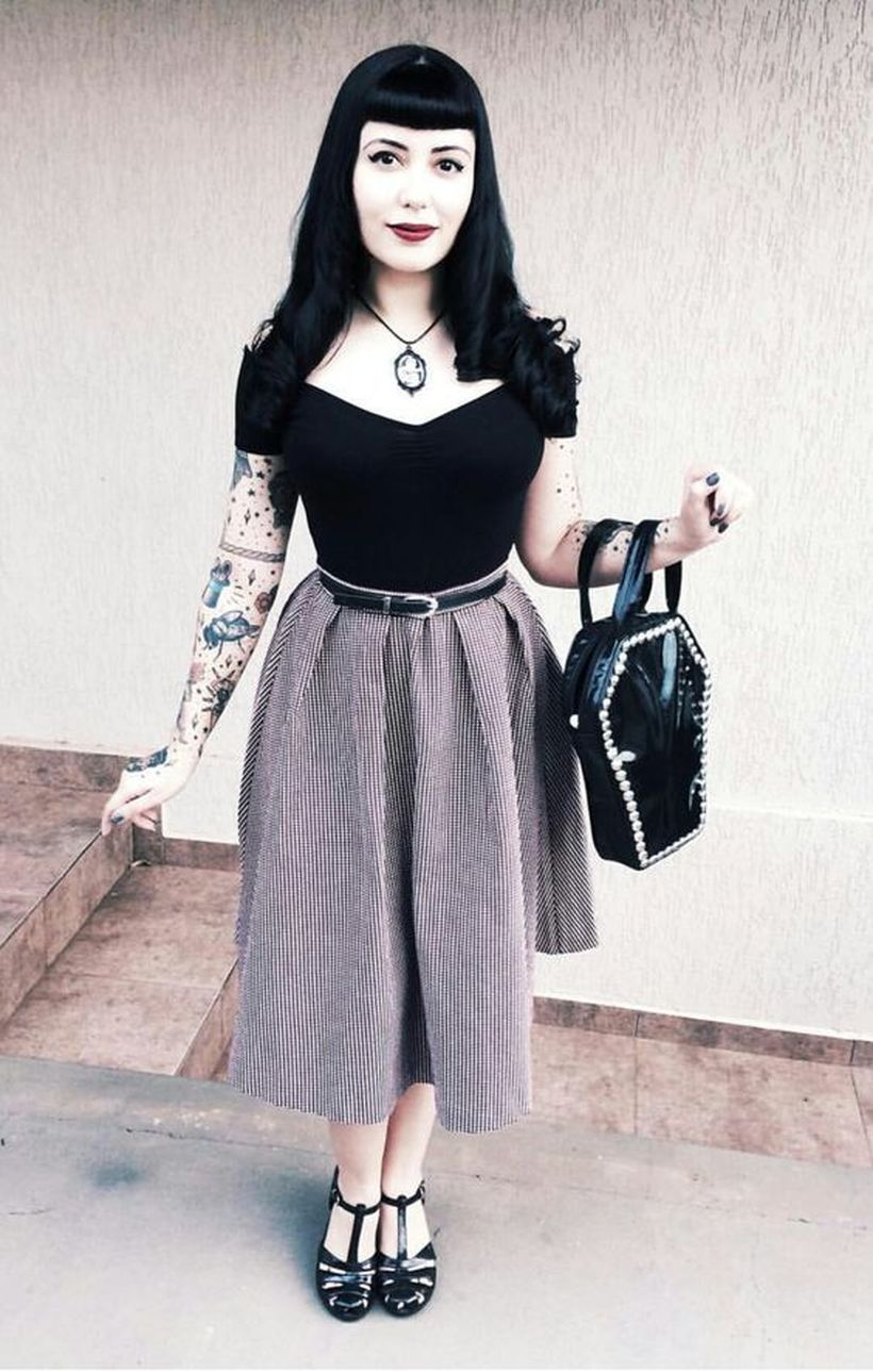 Vintage rockabilly fashion style outfits 29