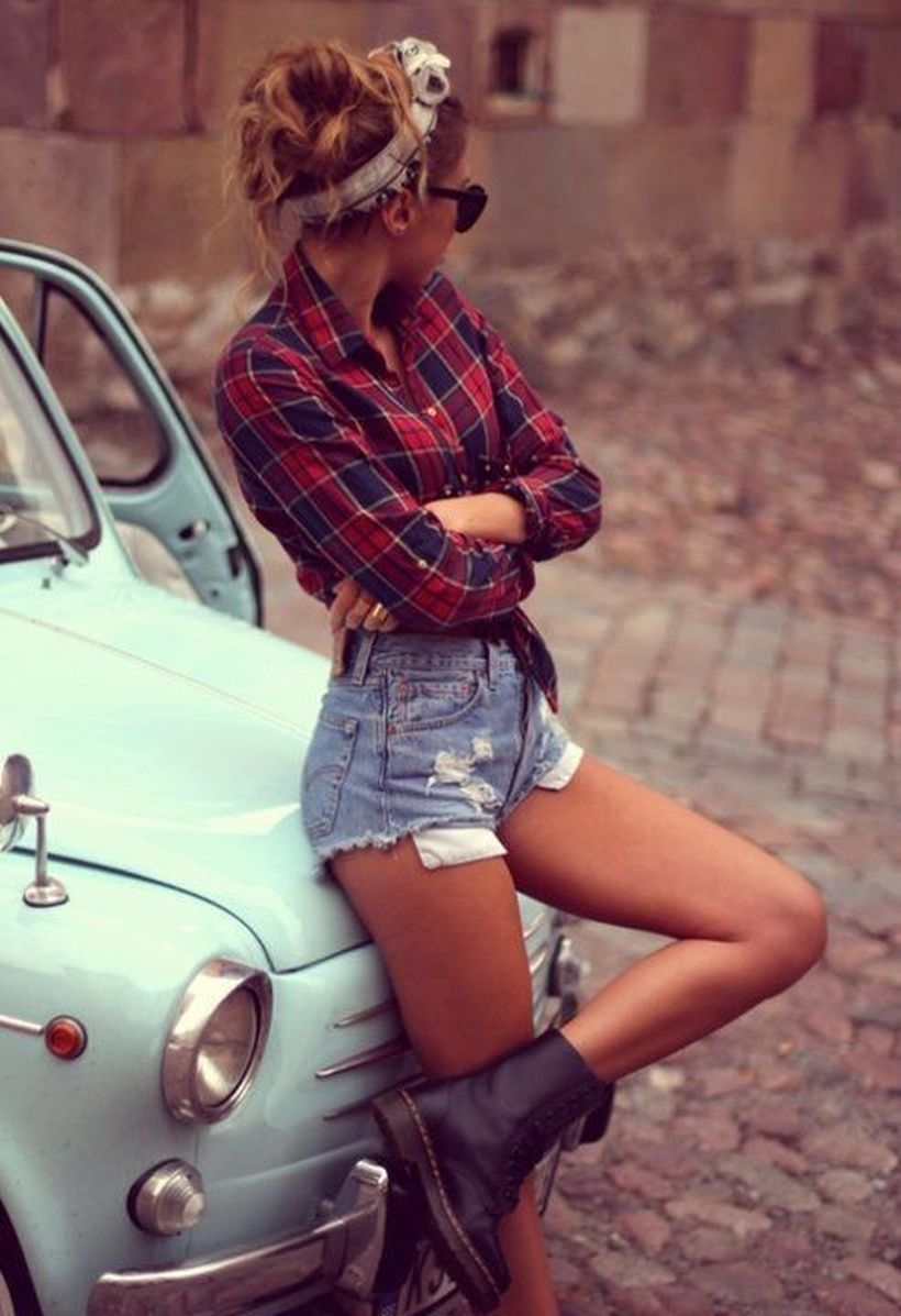 Vintage rockabilly fashion style outfits 38