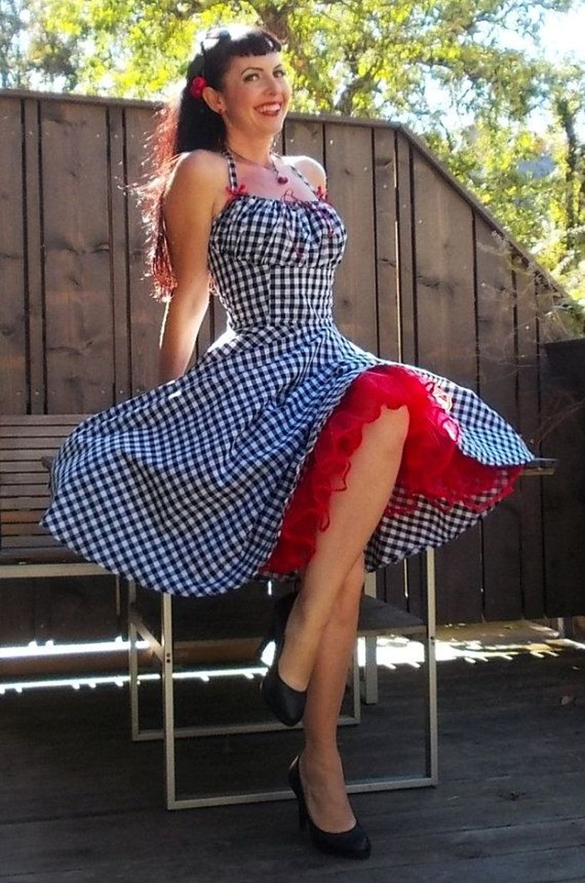 Vintage rockabilly fashion style outfits 47