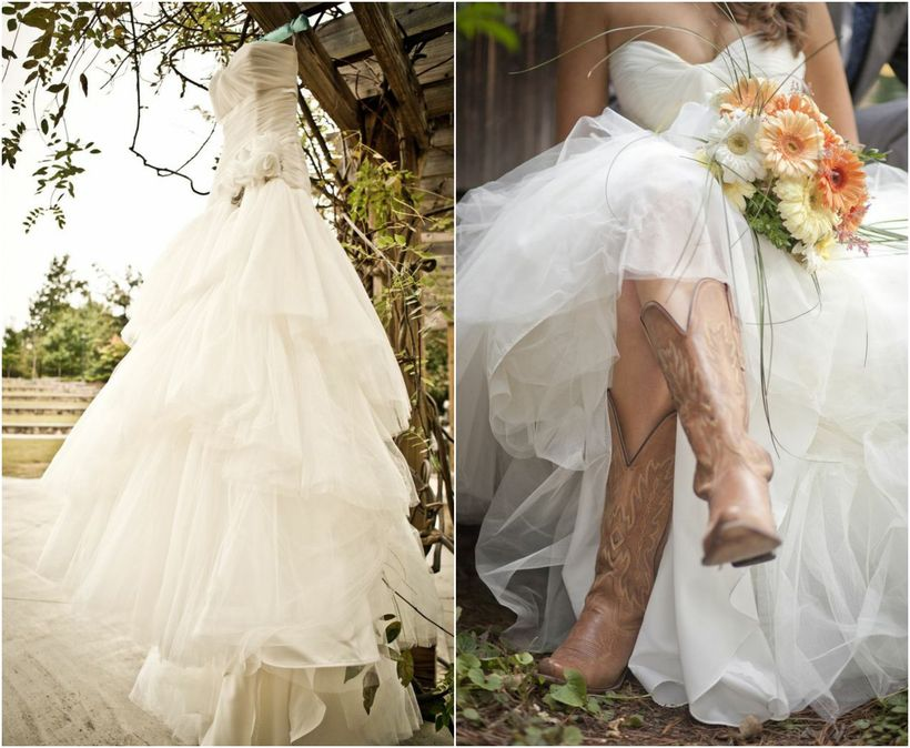 Vintage wedding outfit with country boots 14