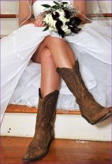Vintage wedding outfit with country boots 27