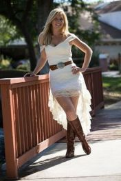 Vintage wedding outfit with country boots 38