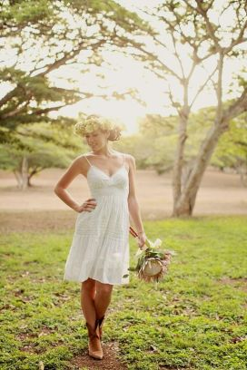 Vintage wedding outfit with country boots 66