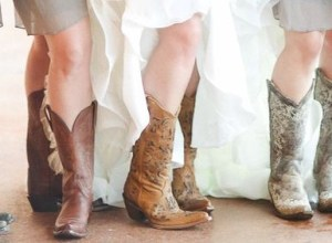 Vintage wedding outfit with country boots featyred