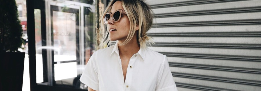 White shirtdresses outfit featured