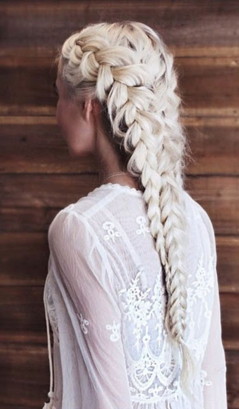 Amazing khaleesi game of thrones hairstyle ideas 21