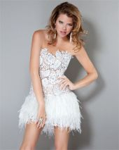 Amazing white short dresses ideas for party outfits 35