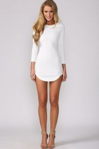 Amazing white short dresses ideas for party outfits 4