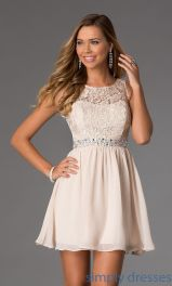 Awesome teens short dresses ideas for graduation outfits 179