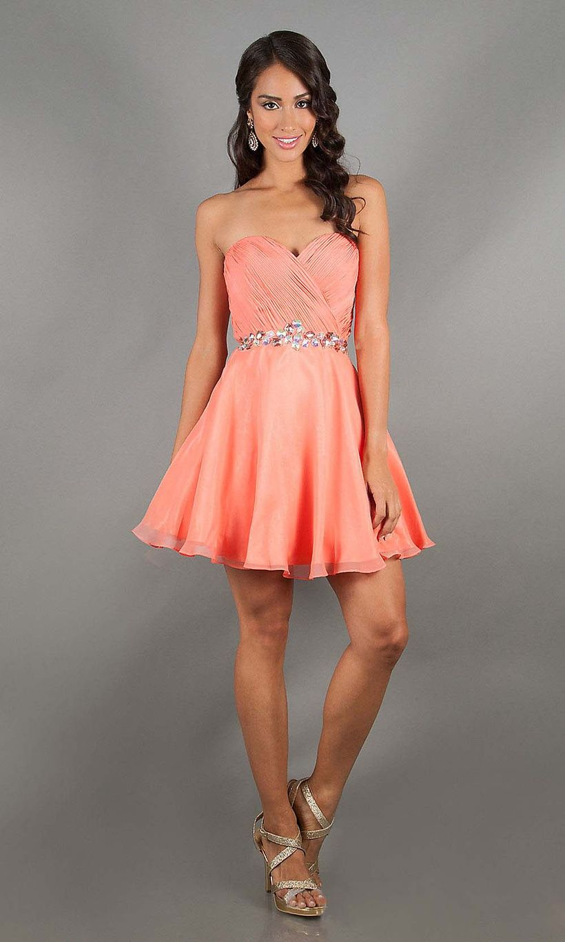 Awesome teens short dresses ideas for graduation outfits 180