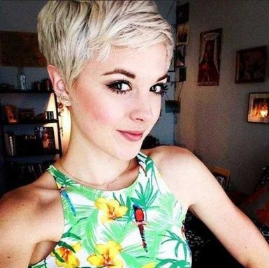 Cool short pixie blonde hairstyle ideas 109