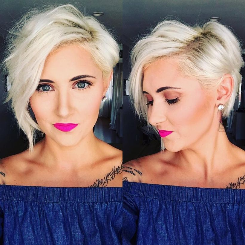 Cool short pixie blonde hairstyle ideas 110