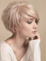 Cool short pixie blonde hairstyle ideas 126