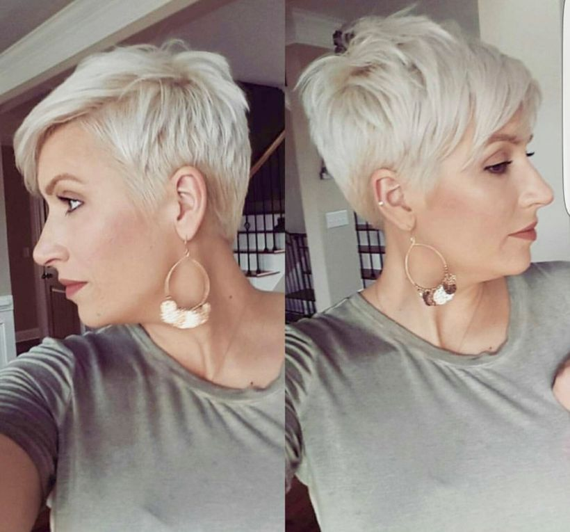 Cool short pixie blonde hairstyle ideas 127