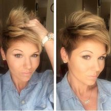 Cool short pixie blonde hairstyle ideas 135