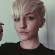 Cool short pixie blonde hairstyle ideas 137