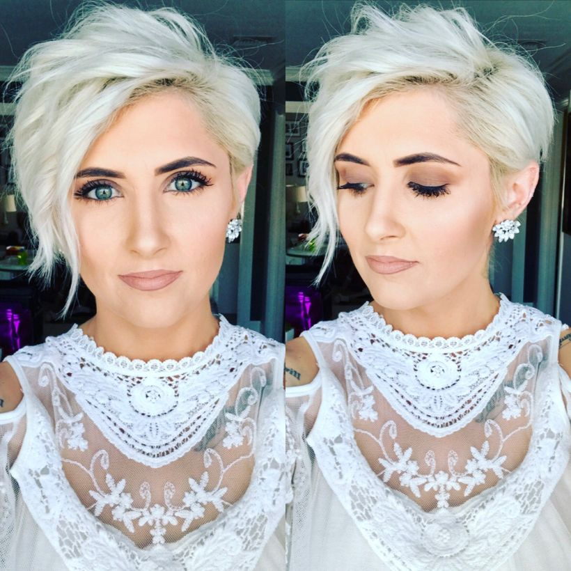 Cool short pixie blonde hairstyle ideas 29