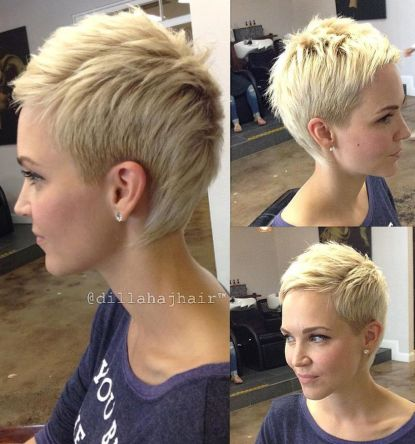 Cool short pixie blonde hairstyle ideas 37