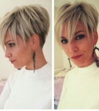 Cool short pixie blonde hairstyle ideas 44