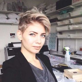Cool short pixie blonde hairstyle ideas 67