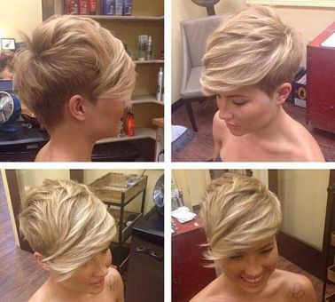 Cool short pixie blonde hairstyle ideas 78