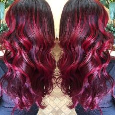 Crazy colorful hair colour ideas for long hair 1