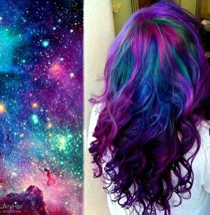Crazy colorful hair colour ideas for long hair 114