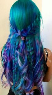 Crazy colorful hair colour ideas for long hair 116