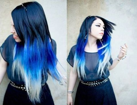 Crazy colorful hair colour ideas for long hair 119