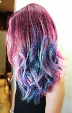 Crazy colorful hair colour ideas for long hair 120