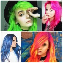 Crazy colorful hair colour ideas for long hair 123