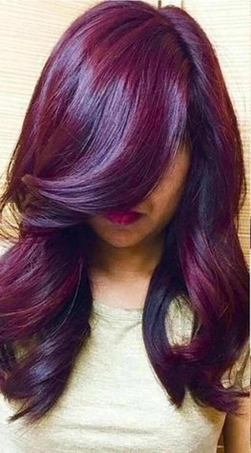 Crazy colorful hair colour ideas for long hair 133
