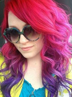 Crazy colorful hair colour ideas for long hair 142