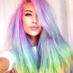 Crazy colorful hair colour ideas for long hair 166