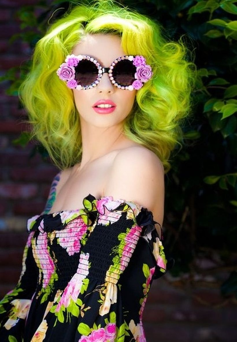 Crazy colorful hair colour ideas for long hair 169