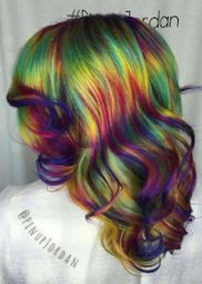 Crazy colorful hair colour ideas for long hair 178