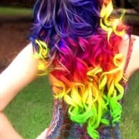 Crazy colorful hair colour ideas for long hair 188