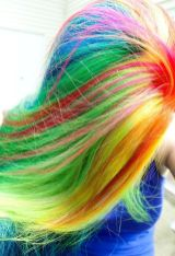 Crazy colorful hair colour ideas for long hair 44