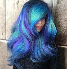 Crazy colorful hair colour ideas for long hair 48