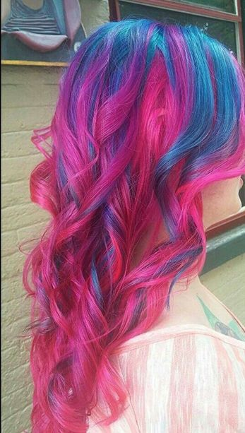 Crazy colorful hair colour ideas for long hair 67