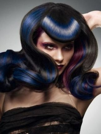 Crazy colorful hair colour ideas for long hair 79