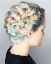 Crazy colorful hair colour ideas for long hair 85