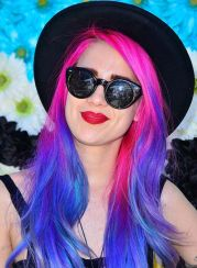 Crazy colorful hair colour ideas for long hair 92