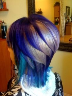 Crazy hair colour ideas for medium and short hair 78