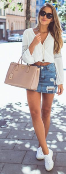 Fashionable skirt outfits ideas that you must try 16
