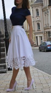 Fashionable skirt outfits ideas that you must try 33