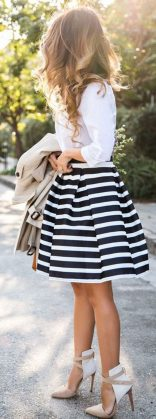 Fashionable skirt outfits ideas that you must try 42