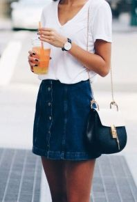 Fashionable skirt outfits ideas that you must try 44